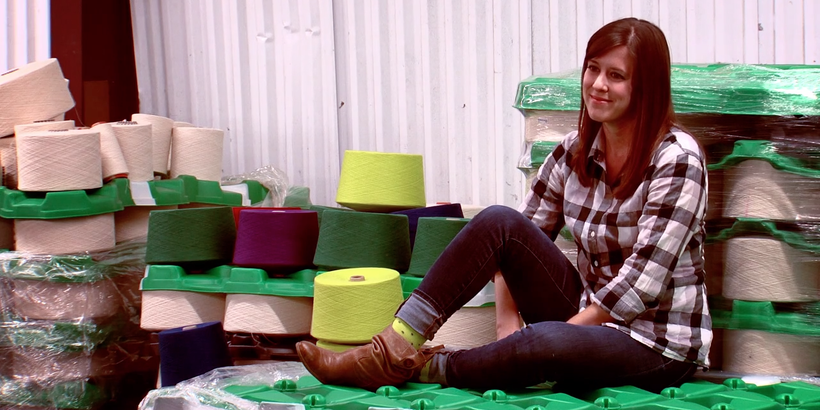 Gina Locklear, founder of Zkano and Little River Sock Mill