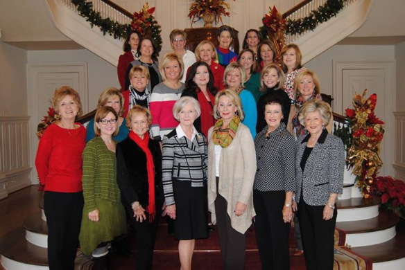 The Alabama Legislative Spouse's Club at the Governor's Mansion. (Photo: Muriel Farley)