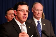 Then-Alabama Secretary of Homeland Security Spencer Collier speaks at a press conference in 2013 (Photo: Governor's Office, Jamie Martin)
