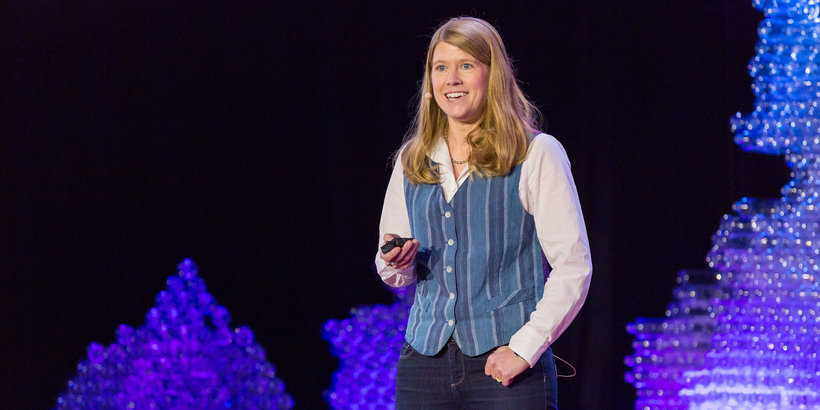 Space Archeologist Sarah Parcak speaking at TEDYouth in 2015