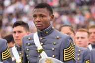 Alix Idrache's eyes fill with tears as he graduates from West Point (Photo: U.S. Army, Staff Sgt. Vito T. Bryant)