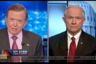 Senator Sessions during his interview on Lou Dobbs Tonight