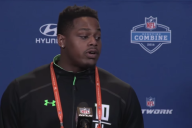 Shon Coleman at the NFL Scouting Combine Press Conference