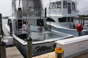 The charter boat Miss Brianna takes fishermen on expeditions off Alabama's Gulf Coast. Captain Bobby Kelly says a longer state season for red snapper fishing has meant a shorter season in federal waters farther from shore. (Robert DeWitt/Alabama NewsCenter)