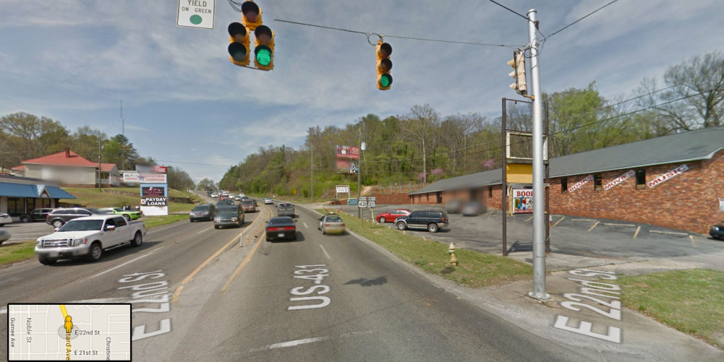 The intersection of Quintard and 22nd (c/o Google Maps street view)