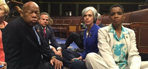 "Democrats stage a ""sit in"" on the House Floor in an attempt to force a vote on gun control."