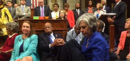 House Democrats stage a sit in for gun control. (Photo: Facebook)