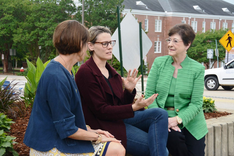 June Henton's work has given American university students a role in addressing the problems of people around the world. (Karim Shamsi-Basha/Alabama NewsCenter)