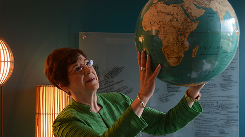 June Henton, dean of Auburn University's College of Human Sciences, has had a significant impact on the lives of impoverished people across the globe. (Karim Shamsi-Basha/Alabama NewsCenter)