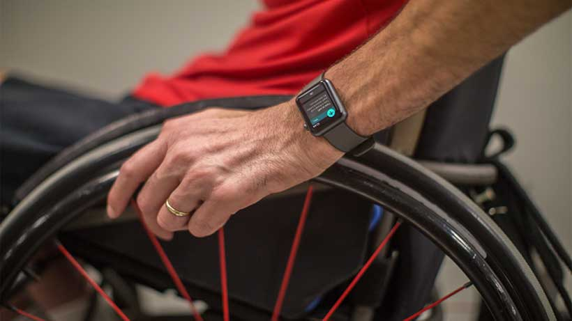 Birmingham's Lakeshore Foundation is helping Apple develop software for the Apple Watch to help keep the disabled active. (courtesy of Apple)