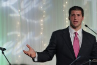 Tim Tebow speaks at a fundraiser (Photo: Dhanny Prawira)