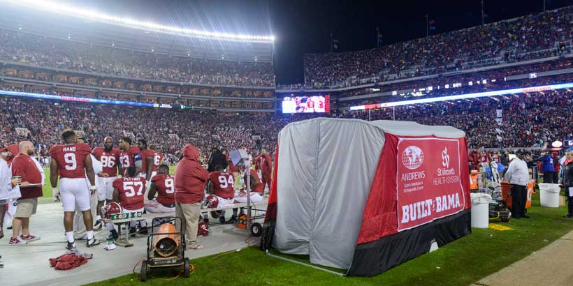 Sideline Tents Invented by u0027Bama Students Now Adopted by NFL & Sideline Tents Invented by u0027Bama Students Now Adopted by NFL ...