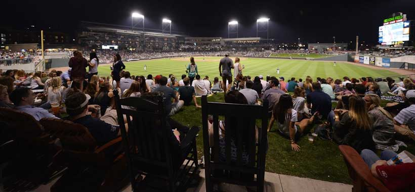 Fans pack Regions Field to watch a Birmingham Barons game. The team keeps breaking its attendance record. (File)