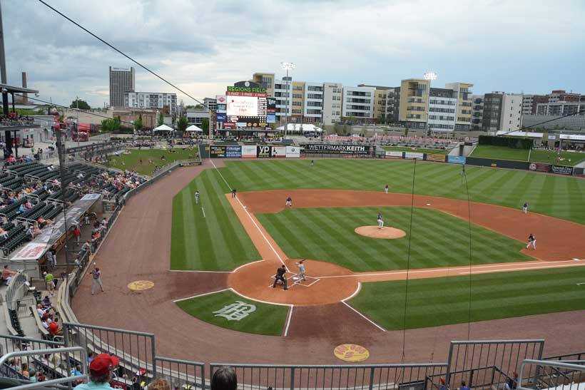 Fans take in a Barons game at Regions Field. (File)