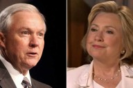 Sen. Jeff Sessions (left) and former Secretary of State Hillary Clinton (right)