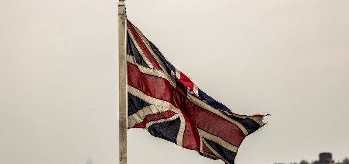Union Jack flying in London (Photo: Davide D'Amico)