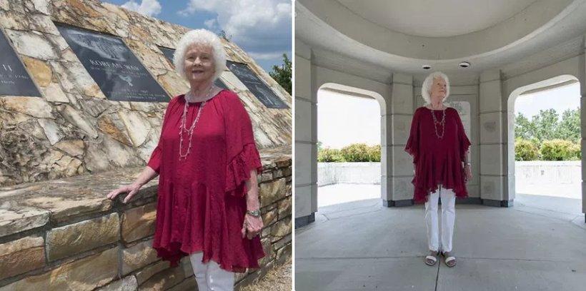 Betty Mize at Ola Lee Mize Patriots Park in Gadsden. (Bernard Troncale/Alabama NewsCenter)