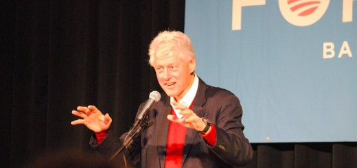 President Bill Clinton speaks at St. Cloud State University (Photo: Eric Austin)