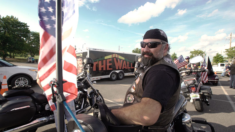Patriot Guard Riders of Alabama gave the American Veterans Traveling Tribute a hero's escort to Fultondale Wednesday. (David Macon/Alabama NewsCenter)