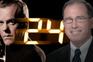 """Jack Bauer as portrayed by Kiefer Sutherland in Fox's hit """"24"""" (left) and Former Under Secretary of Defense for Intelligence Michael G. Vickers (right)"""