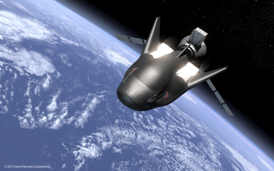 This rendering shows the Dream Chaser in flight in space. (Image: Sierra Nevada Corp.)