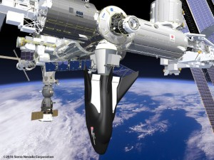 Sierra Nevada's Dream Chaser will make cargo deliveries to the International Space Station. (Rendering: Sierra Nevada Corp.)