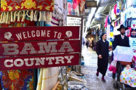Hani Imam's store brings Tide pride to David Street in Jerusalem. (Karim Shamsi-Basha/Alabama NewsCenter)