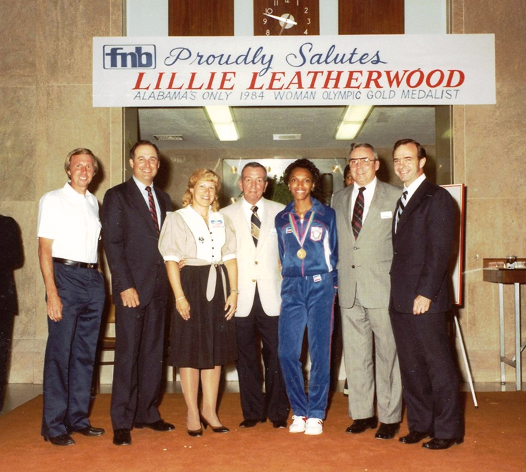"""Leatherwood, called a """"team player,"""" is celebrated for her accomplishments. (file)"""
