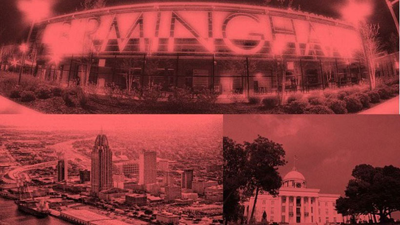 Alabama cities (clockwise from bottom left) Mobile, Birmingham and Montgomery ranked in the Top 10 most stressed cities according to WalletHub. (file)
