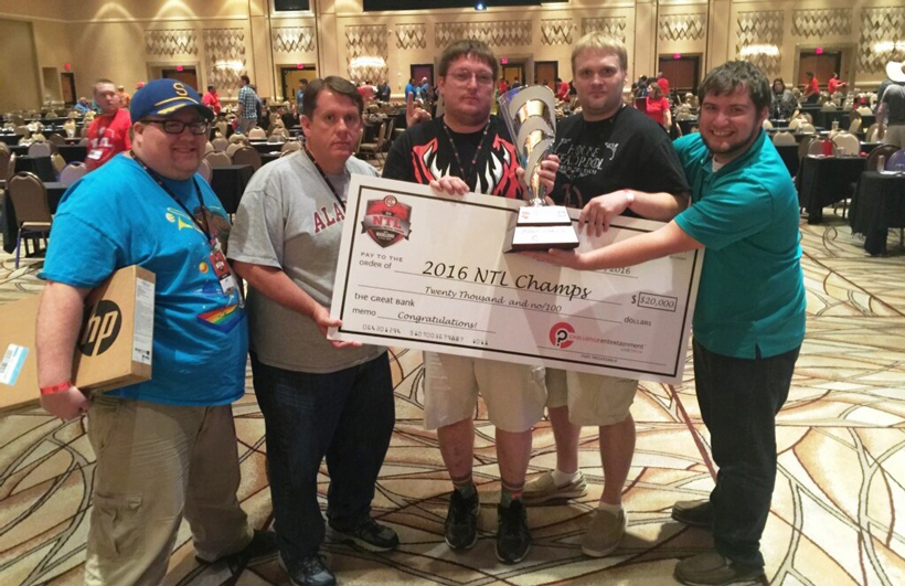Pacers, the Alabama team from Decatur, captured the championship at the National Trivia League finals in Las Vegas. (John Herr / Alabama NewsCenter)