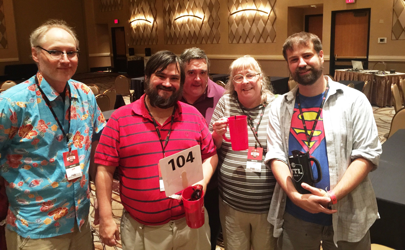J'accuse, a team from Pelham, placed in the National Trivia League finals in Las Vegas. (John Herr / Alabama NewsCenter)