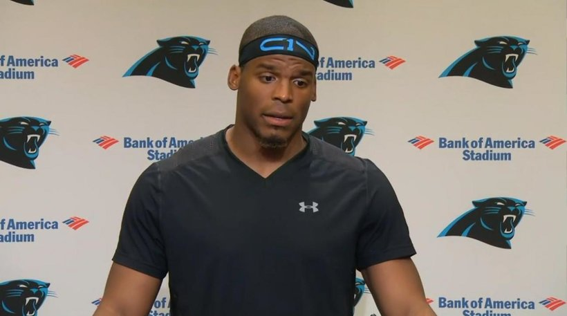 Carolina Panthers quarterback Cam Newton weighs in on the unrest in Charlotte. (Photo: Screenshot)