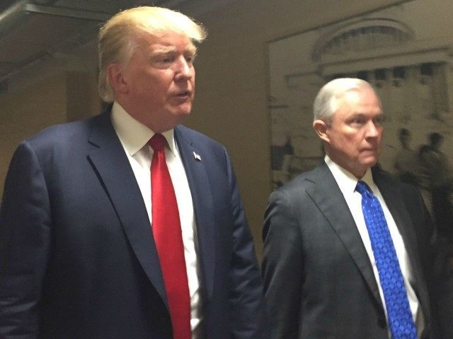 Republican Presidential nominee Donald J. Trump and Sen. Jeff Sessions met with Egyptian President Abdel Fattah el-Sisi.