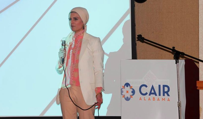 CAIR-Alabama Director Khaula Hadeed speaks at the University of Alabama-Birmingham. (Photo: Facebook)