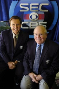 Gary Danielson, left, and Verne Lundquist are familiar faces to SEC football fans, having spent years providing play-by-play for the conference's games on CBS. (CBS)