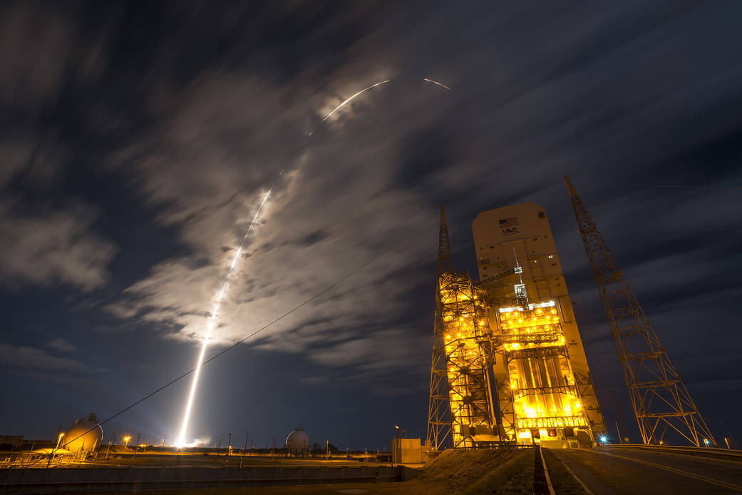 NASA conducts tests on an Atlas V rocket at Cape Canaveral as part of the OSIRIS-REx mission to the Bennu asteroid. (Image: NASA/Kim Shiflett)