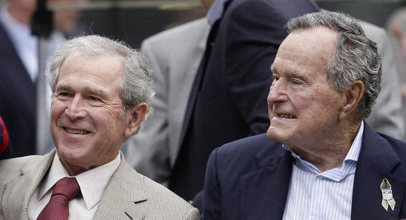 George W. Bush and George H.W. Bush (Photo: Flickr)