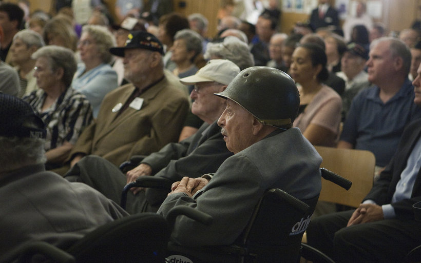 WWII vets attending a ceremony held in their honor (Photo: Brian K. Slack)
