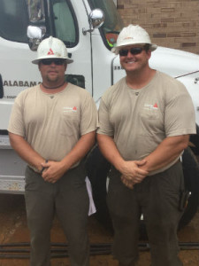 Alabama Power linemen are frequently required to put in long hours and respond at a moment's notice to get power restored for families. (file)