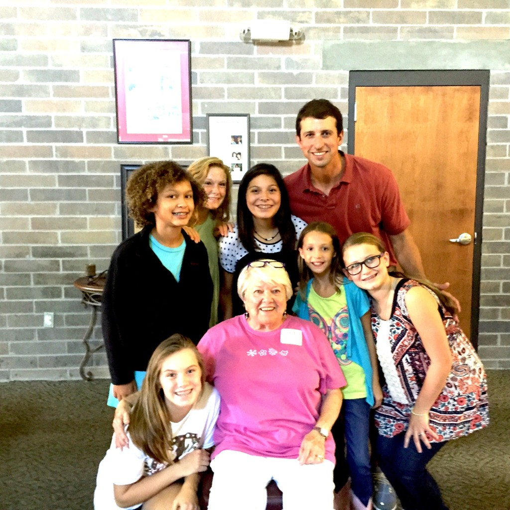 Mrs. Bashinsky (pictured center) with children from Big Oak Ranch