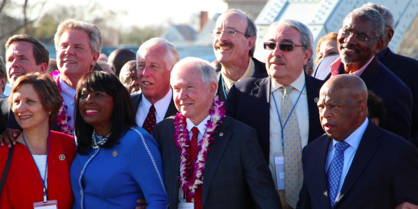 Sen. Jeff Sessions at the 50th anniversary of the march at Selma. (Photo: Todd Stacy)