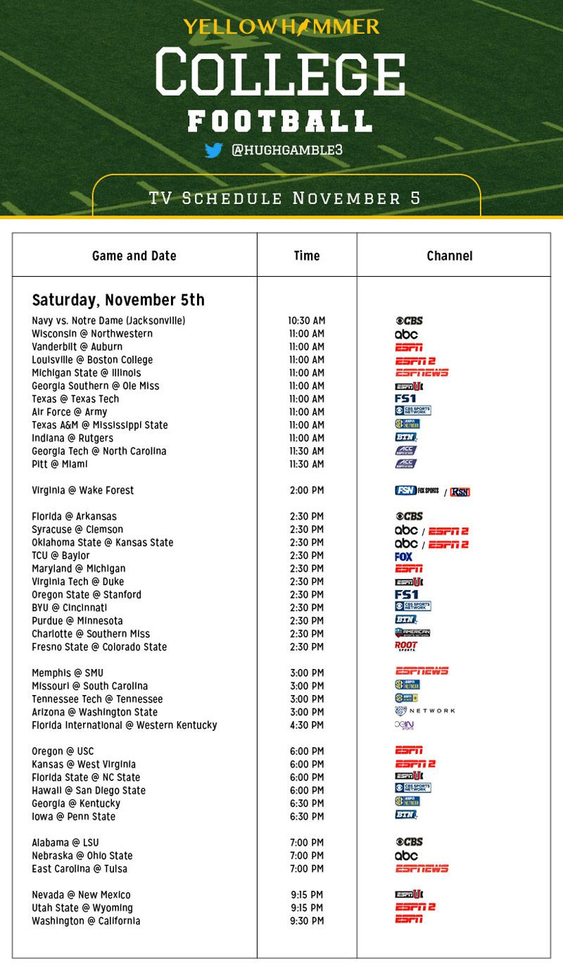 Peaceful image with regard to nfl week 11 printable schedule