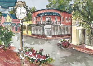Christine Linson is known for paintings depicting her adopted hometown, Fairhope.