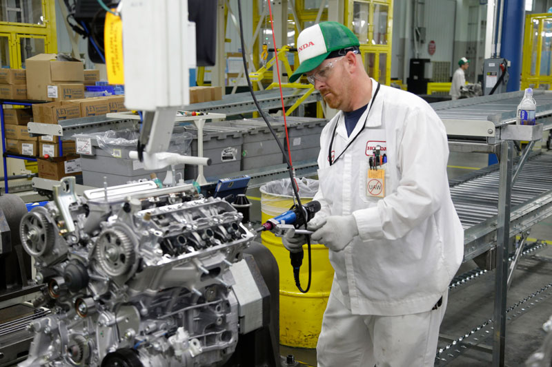 Honda invested more than $71 million to open a new, highly automated engine assembly line at its Alabama facility.