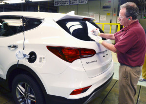 Hyundai launched mass production of Santa Fe Sport SUV at its Montgomery assembly plant on June 22. (Image: Hyundai)