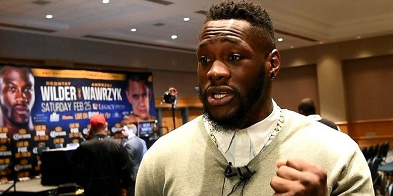 Deontay Wilder said he will let his fists do his talking in the ring in Birmingham in February. (Solomon Crenshaw Jr. / Alabama NewsCenter)