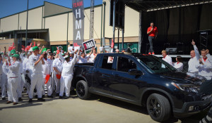 Honda Alabama threw a launch party to celebrate the start of mass production for the second-generation Ridgeline pickup at the automaker's assembly plant in Lincoln. (Image: Dawn Azok)