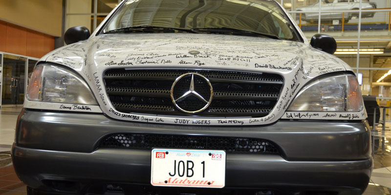 History alabama auto production races past 10 million for Mercedes benz jobs alabama