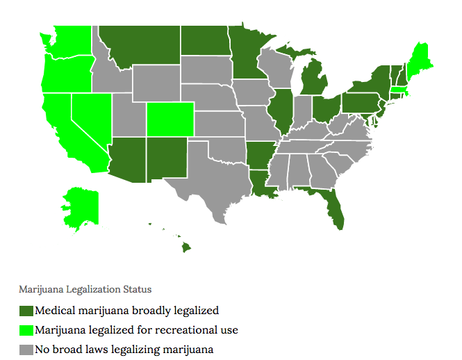 3 States Legalize Marijuana For Recreational Or Medical Use