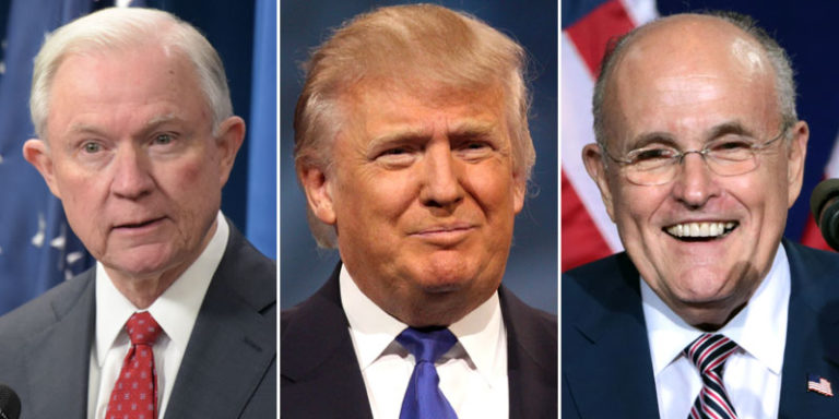 Trump Entertaining Idea of Replacing Sessions with Giuliani as AG